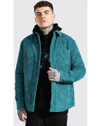 BoohooMAN Cord Quilted Overshirt - Multicolour