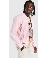 BoohooMAN Woven Bomber - Pink
