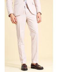 BoohooMAN Skinny Anzugjacke mit Nadelstreifen - Pink