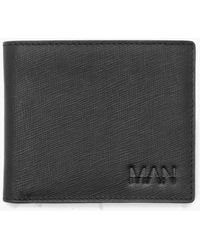 Boohoo - Real Leather Man Emboss Card Holder - Lyst