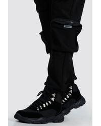 BoohooMAN Chunky Hiker Boot - Black