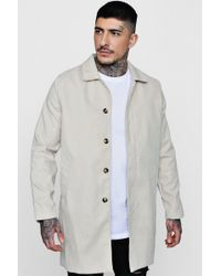 Boohoo - Faux Suede Trench Coat - Lyst