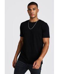 BoohooMAN T-shirt basique à col ras du cou - Noir