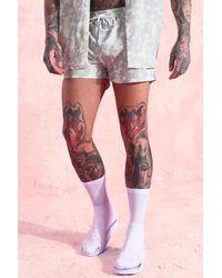 BoohooMAN Floral Swim Shorts In Short Length - Green