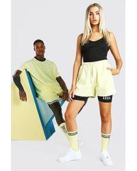 BoohooMAN Abode Hers Einteiler und Shorts - Gelb