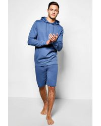 Boohoo - Lightweight Hooded Short Loungewear Set - Lyst