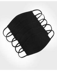 BoohooMAN 5er-Pack Einfache Fashion-Masken - Schwarz