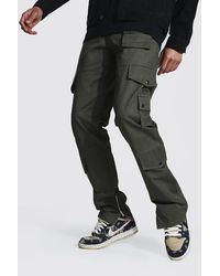 BoohooMAN Tall Fixed Relaxed Fit Twill Cargo Trouser - Mehrfarbig