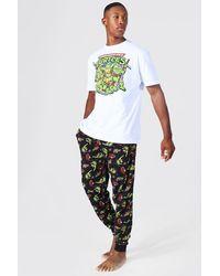 BoohooMAN Loungewear-Set mit Teenage Mutant Ninja Turtles Print - Weiß