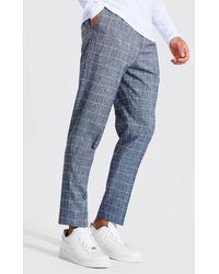 BoohooMAN - Pantalon fuselé à carreaux - Lyst