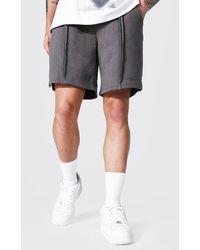 BoohooMAN Loose Man Official Split Hem Jersey Shorts - Mehrfarbig
