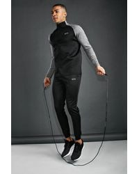 BoohooMAN - Man Active Funnel Neck Tracksuit - Lyst