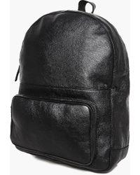 Boohoo - Black Real Leather Belt - Lyst