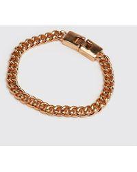 BoohooMAN Chain Link Bracelet - Metallic