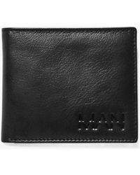 Boohoo - Black Real Leather Man Embossed Wallet - Lyst
