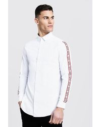 3f9148c8 Lyst - Tommy Hilfiger Tape Woven Long Sleeve Shirt in White for Men