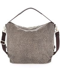 Borbonese Hobo Bag Medium - Marrone