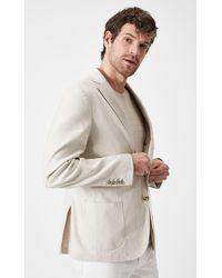 Boris Becker Beige Linen-blended Blazer Jacket - Natural