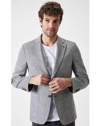 Boris Becker Grey Linen Blazer Jacket