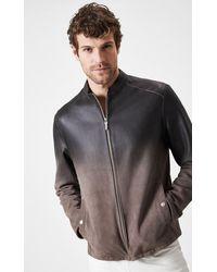 Boris Becker Degrade Suede Leather Jacket - Multicolour