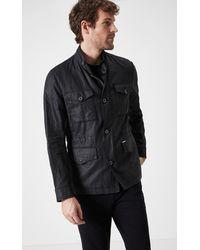 Boris Becker Linen Safari Jacket With Pocket - Black