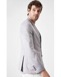 Boris Becker Cotton Grey Blazer Jacket
