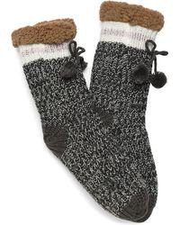 Børn Charcoal Slipper Sock - Gray