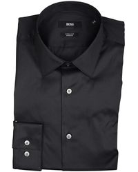 BOSS Herwing Overhemd - Zwart