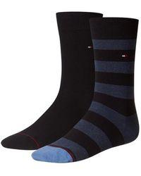 Tommy Hilfiger Th Men Rugby Sock 2p - Zwart