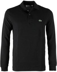 Lacoste - Polo L.m. Regular Fit Zwart - Lyst