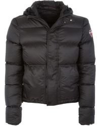 13bf8a0b2fe82c Prada K-way Nylon Piuma Jacket Nero + Bianco + Nero in Black for Men ...
