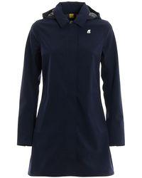 K-Way Mathilde Bonded Jersey Raincoat - Blue