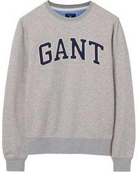 GANT - O2. Outline C-neck Sweat - Lyst