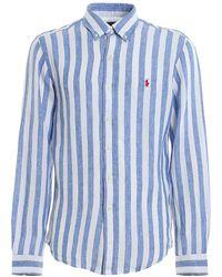 Polo Ralph Lauren Striped Linen Shirt - Blue
