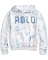 Polo Ralph Lauren Tie-dye Fleece Hoodie - Blue