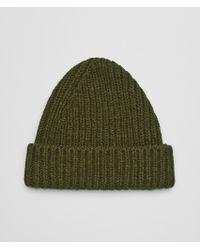Bottega Veneta Hat In Cashmere - Green