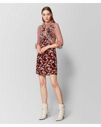Bottega Veneta - Multicolour Silk/velvet Dress - Lyst