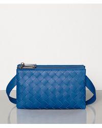 Bottega Veneta Mini Messenger Bag - Blue