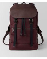 Bottega Veneta - Dark Barolo Hi-tech Canvas Sassolungo Backpack - Lyst