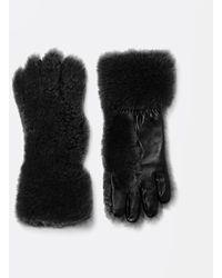 Bottega Veneta Handschuhe mit Textur - Schwarz