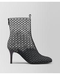 Bottega Veneta - Teodora Boot In Intrecciato Knitted - Lyst