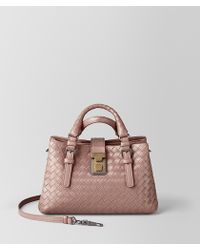 Bottega Veneta - Mini Roma Bag In Intrecciato Calf Leather - Lyst