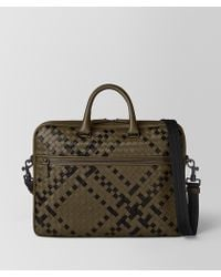 Bottega Veneta BORSA BUSINESS IN INTRECCIATO NAPPA - Multicolore