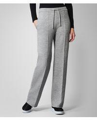 Bottega Veneta Trousers In Wool - Grey