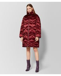 Bottega Veneta Baccara Rose Silk Coat - Red