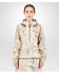 Bottega Veneta Botanical Print Polyester Jacket - Natural
