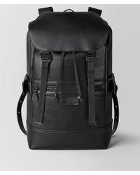 Bottega Veneta Sassolungo Backpack In LEGGERO - Black