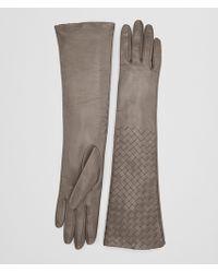Bottega Veneta - Steel Lamb Glove - Lyst