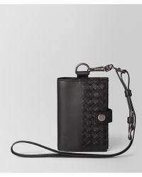 Bottega Veneta Passport Holder In Intrecciato Vn - Black