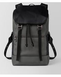 Bottega Veneta - Light Grey Hi-tech Canvas Sassolungo Backpack - Lyst